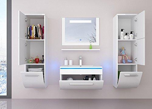 badm belset badezimmerm bel komplett set waschbeckenschrank mit waschtisch spiegel 2. Black Bedroom Furniture Sets. Home Design Ideas
