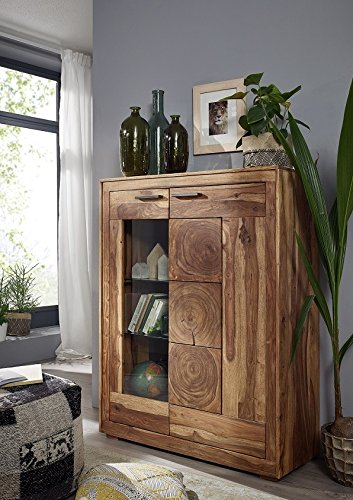 "Highboard 103cm ""Rio"" Sheesham massiv"