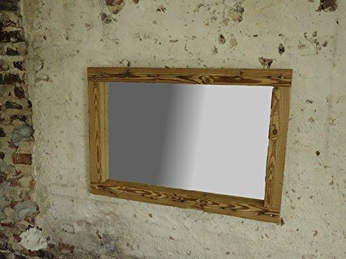 Spiegel aus altholzbalken handbehauen rustikaler holzbalkenspiegel shabby 70 x 100 x 5 5 - Rustikaler spiegel ...