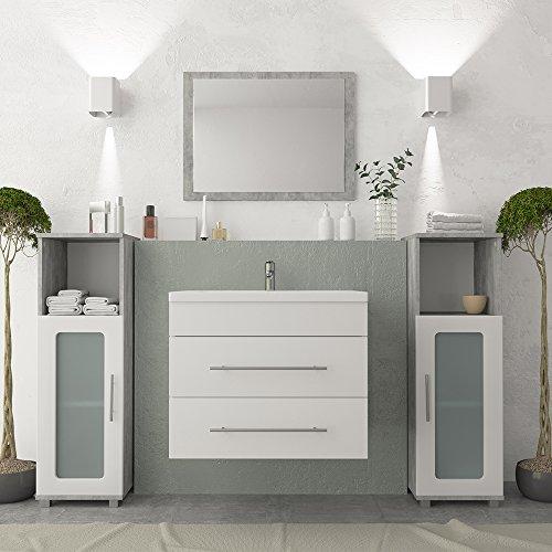 Vicco Waschplatz 60 Cm Weiß Hochglanz Softclose Funktion
