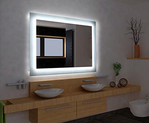 Bilderdepot24 Beleuchteter LED Spiegel Badspiegel Wandspiegel mit Beleuchtung - 50x40 cm O-LED