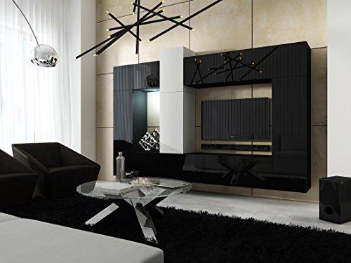 Tv Meubel Scandinavisch : Joan tv möbel wohnzimmer lowboard eiche grau oberteil