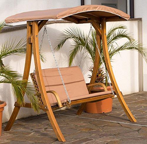 ass design hollywoodschaukel rio aus holz l rche mit dach von skandinavische m bel. Black Bedroom Furniture Sets. Home Design Ideas