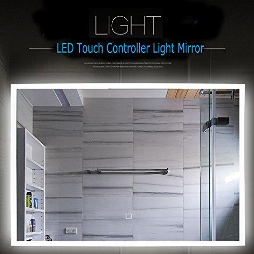 ALOTOA LED BADSPIEGEL mit Berührungssteuerung Beleuchtung 80 * 60 CM, Kosmetik-Spiegel Toiletten-Spiegel Bad Spiegel Wand-Spiegel mit Kühles Weiß Beleuchtung