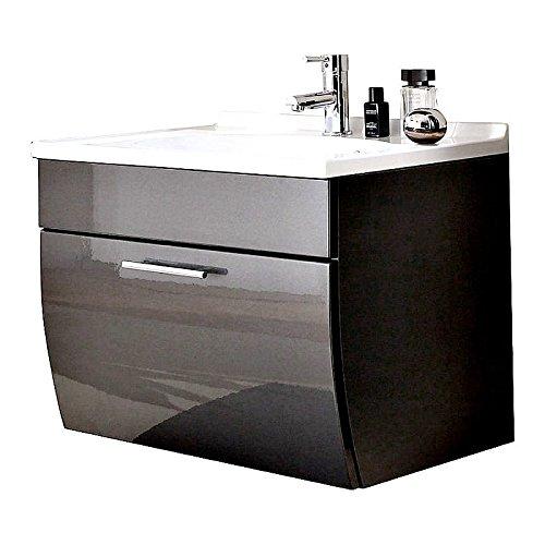 badm bel set 5 teilig anthrazit hochglanz badezimmer komplettset spiegelschrank waschtisch mit. Black Bedroom Furniture Sets. Home Design Ideas