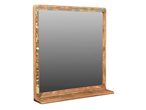 Woodkings Bad Spiegel 70x70cm Kalkutta Holz Bunt Vintage Rustikal Mobel Badmobel Badezimmerspiegel