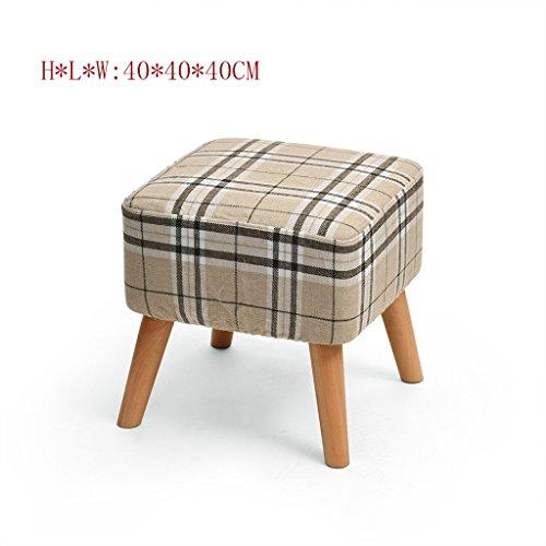 DYFYMX Mode Hocker Massivholzschuhbank-Speicherhocker-Sofahocker-Gewebebehandlung-Schemelhocker Möbel (Farbe : #5)