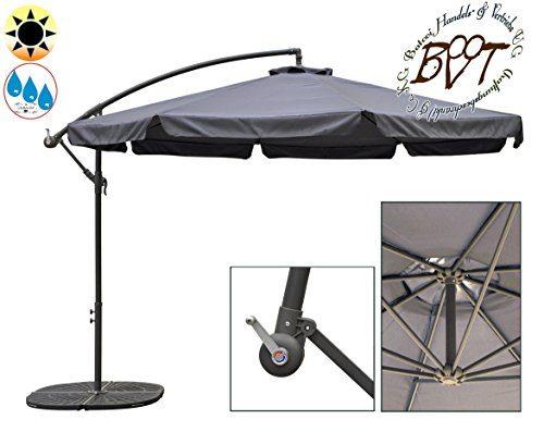miweba aluminium sonnenschirm sunny mit led 350cm durchmesser 50 uv schutz inklusive. Black Bedroom Furniture Sets. Home Design Ideas
