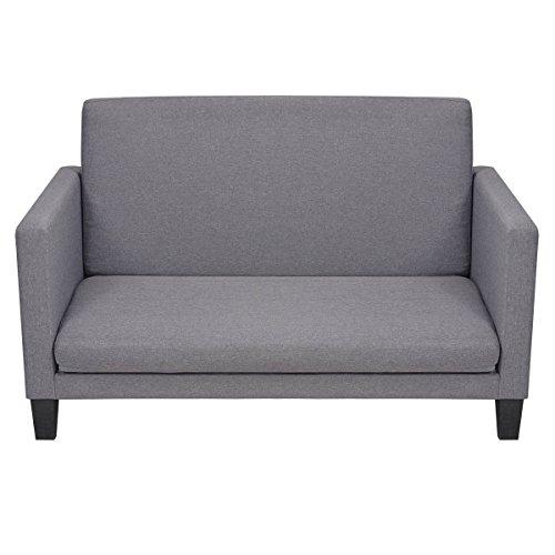 vidaxl schlafsofa schlafcouch g stebett ausziehcouch stoff 135x70x83 5 hellgrau skandinavische. Black Bedroom Furniture Sets. Home Design Ideas