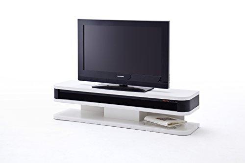 robas lund lowboard fernsehtisch tv schrank junior wei matt mit soundsystem 151 x 40 x. Black Bedroom Furniture Sets. Home Design Ideas