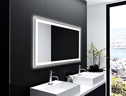 Badspiegel Designo MA4110 mit A++ LED Beleuchtung - (B) 120 cm x (H) 80 cm - Made in Germany - TIEFPREISGARANTIE Design 2018 Badezimmerspiegel Wandspiegel AKTIONSPREIS Lichtspiegel rundherum beleuchtet Bad Licht Spiegel