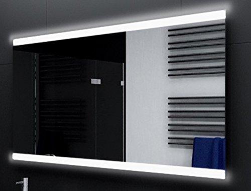 Badspiegel Designo MA2510 mit A++ LED Beleuchtung - (B) 100 cm x (H) 70 cm - Made in Germany - TIEFPREISGARANTIE Design 2018 Badezimmerspiegel Wandspiegel AKTIONSPREIS Lichtspiegel oben und unten beleuchtet Bad Licht Spiegel