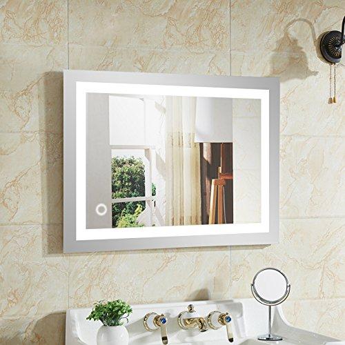 Wefun Badspiegel mit Beleuchtung,Badezimmerspiegel mit Beleuchtung,badezimmerspiegel led touch (500mm*700mm)