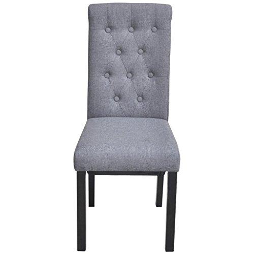 festnight 6er set esszimmerst hle essstuhl esszimmer stuhl k chenstuhl sitzgruppe stoffbezug. Black Bedroom Furniture Sets. Home Design Ideas
