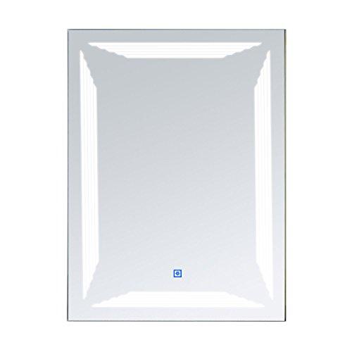 Homcom LED Badspiegel Lichtspiegel Wandspiegel Badezimmer Spiegel Beleuchtung Alu 36W