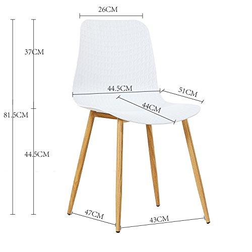 eggree 4er set esszimmerst hle skandinavisch mit ergonomic stuhlsitz und starke metallbeine. Black Bedroom Furniture Sets. Home Design Ideas