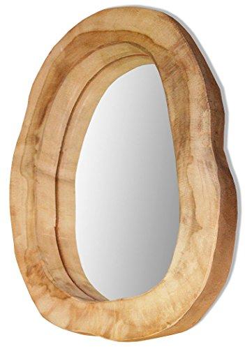 LioLiving®, Wandspiegel aus massivem Teakholz (#400134)