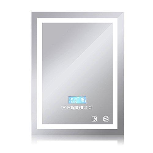 Badspiegel LED Beleuchtung Wandspiegel Badezimmerspiegel Intelligent Lichtspiegel mit Bluetooth Lautsprecher ( 600 x 800 mm )