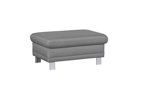 Cavadore Sofa-Hocker Marool / Fußbank passend zum Sofa Marool / Modernes Design / Größe: 102 x 47 x 65 cm (BxHxT) / Farbe: Hellgrau