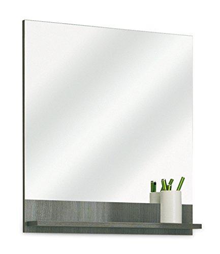 Badezimmerspiegel Badspiegel Wandspiegel ORSON 2 | Graphit Struktur | Dekor | mit Ablage