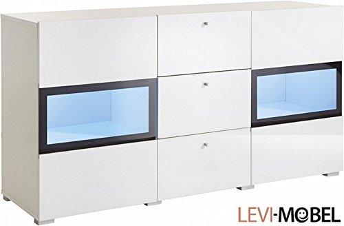 levi moebel sideboard anbauwand wohnzimmer wohnwand wei hochglanz neu 558016 skandinavische m bel. Black Bedroom Furniture Sets. Home Design Ideas