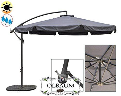 premium xxxl ampelschirm 3 50 m 350 cm 8 teilig 8 streben robustes ca 200 g m polyester. Black Bedroom Furniture Sets. Home Design Ideas