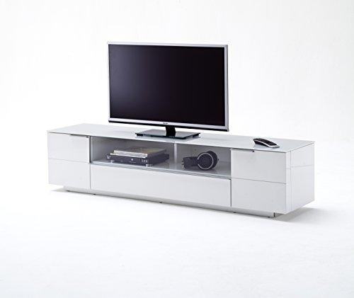 robas lund lowboard fernsehtisch tv schrank canberra hochglanz wei 60 x 42 x 20cm. Black Bedroom Furniture Sets. Home Design Ideas