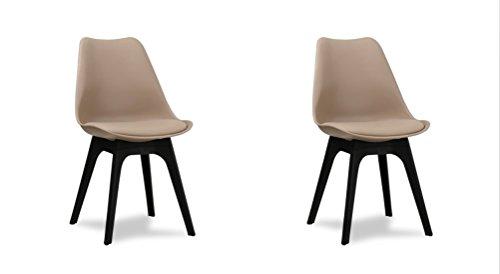 set st hle esszimmer 2 auswahl retro design tulpen stuhl skandinavischen den beinen schwarzen. Black Bedroom Furniture Sets. Home Design Ideas