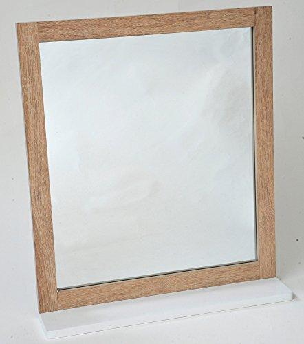 2 in 1 Spiegel und Badezimmer Ablage - Effekt : gealterte Eiche