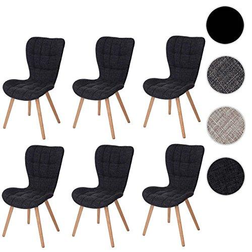 mendler 6x esszimmerstuhl hwc a87 stuhl lehnstuhl retro 50er jahre design skandinavische m bel. Black Bedroom Furniture Sets. Home Design Ideas