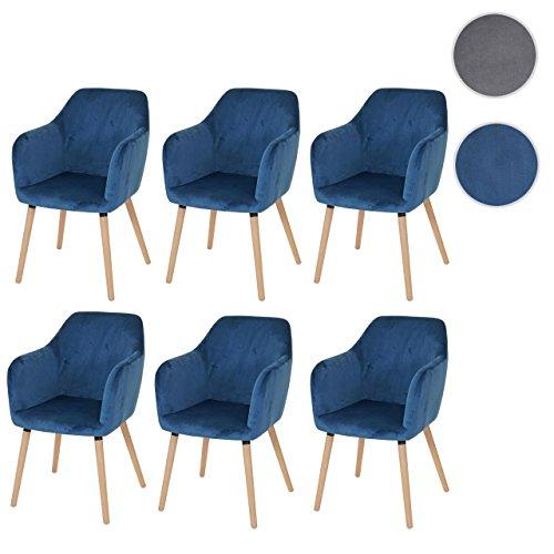 mendler 6x esszimmerstuhl malm t381 stuhl lehnstuhl retro 50er jahre design skandinavische. Black Bedroom Furniture Sets. Home Design Ideas
