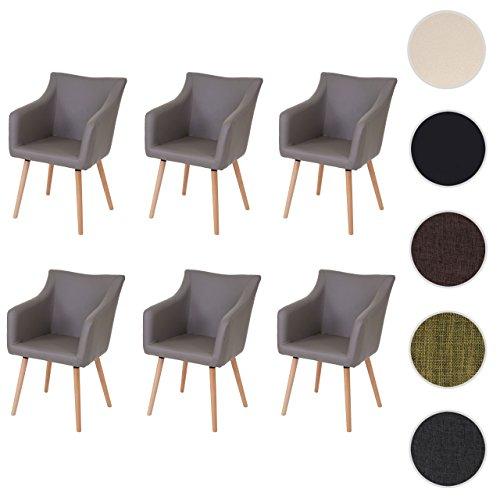 mendler 6x esszimmerstuhl malm t382 stuhl lehnstuhl retro 50er jahre design skandinavische. Black Bedroom Furniture Sets. Home Design Ideas
