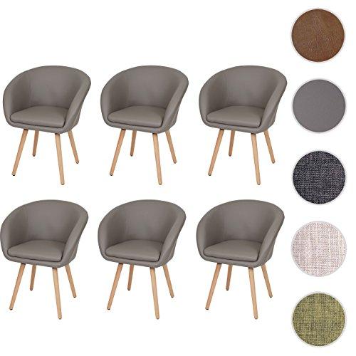 mendler 6x esszimmerstuhl malm t633 stuhl lehnstuhl retro 50er jahre design skandinavische. Black Bedroom Furniture Sets. Home Design Ideas