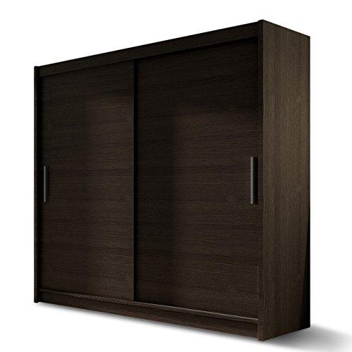 Kleiderschrank nero 120 elegantes schlafzimmerschrank mit for Garderobe 30 cm
