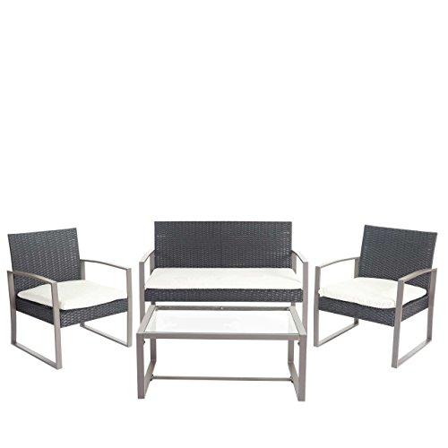 mendler 2 1 1 poly rattan garten garnitur siana. Black Bedroom Furniture Sets. Home Design Ideas