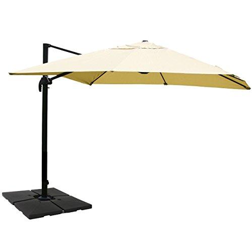 mendler gastronomie luxus ampelschirm n22 aluminium 3x4m. Black Bedroom Furniture Sets. Home Design Ideas