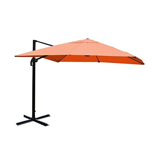 Mendler Gastronomie-Luxus-Ampelschirm Sonnenschirm N22 Aluminium, 4,3 m ~ terrakotta ohne Ständer, drehbar