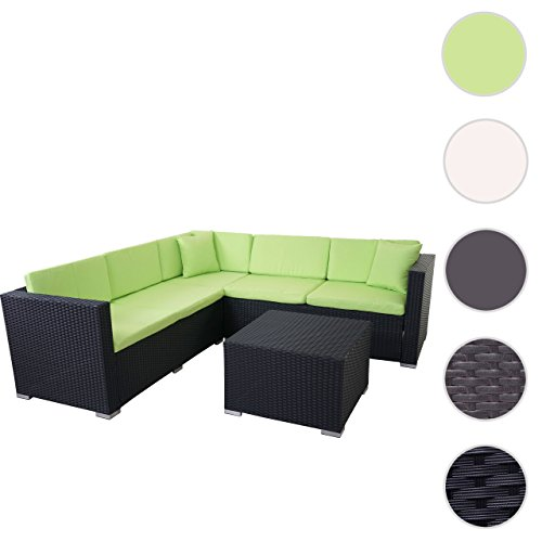 mendler poly rattan sofa garnitur rom basic sitzgruppe. Black Bedroom Furniture Sets. Home Design Ideas
