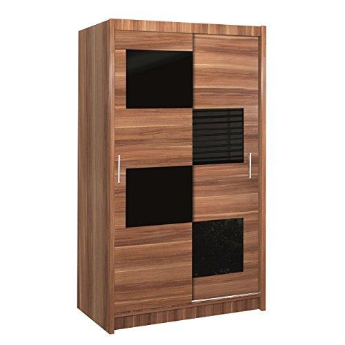 OUTLET !! Kleiderschrank Fuerta 130, Schiebetür mit Spiegel, Schlafzimmerschrank, Elegantes, Schlafzimmer, Garderobeschrank, Schwebetürenschrank,