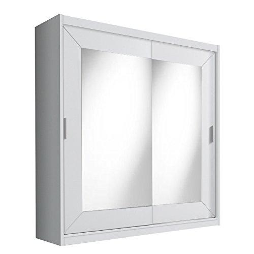 Schwebetürenschrank Alfa Kleiderschrank mit Spiegel, Modernes Schlafzimmerschrank, Schiebetür Schrank, Schlafzimmer
