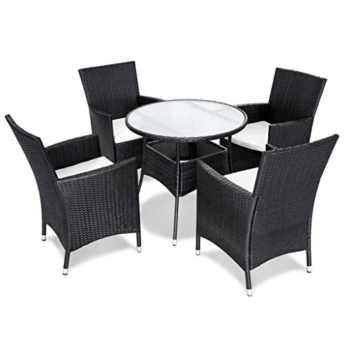 vidaxl 9tlg sitzgruppe essgruppe gartenm bel garnitur poly rattan braun schwarz. Black Bedroom Furniture Sets. Home Design Ideas