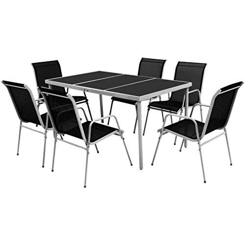 vidaxl essgruppe 7 tlg gartenm bel set sitzgruppe. Black Bedroom Furniture Sets. Home Design Ideas