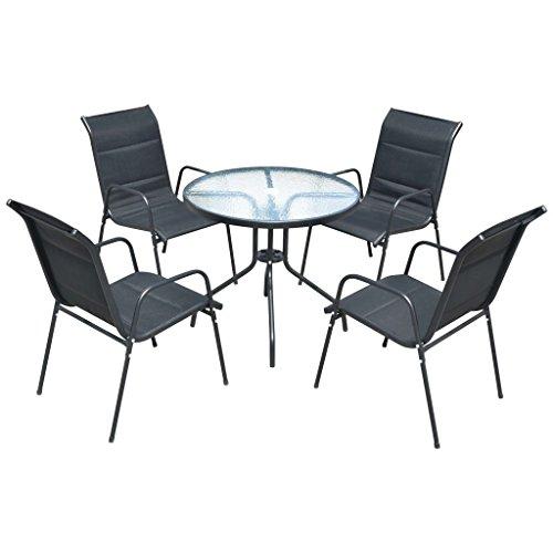 vidaxl gartenm bel set 5 tlg sitzgruppe gartenset. Black Bedroom Furniture Sets. Home Design Ideas