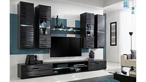 justyou rico led wohnwand anbauwand schrankwand gro e. Black Bedroom Furniture Sets. Home Design Ideas