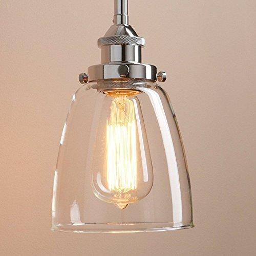 Lightsjoy Hangeleuchte Vintage Glas Pendelleuchte Industrial Hangelampe Retro Industrie Lampen Hangende