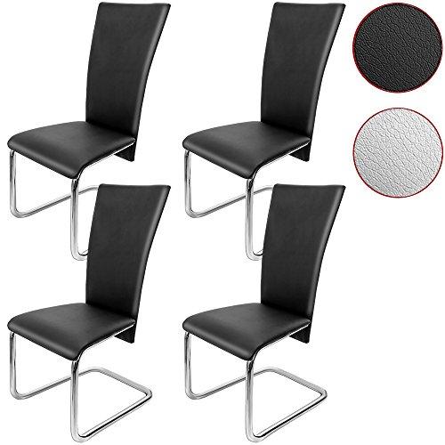 4er SET Freischwinger Esszimmerstuhl - Stühle Sitzgruppe Esszimmer Stuhl