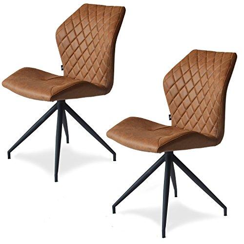 Rocky Esszimmerstühle 2er set | Design Stuhl mit Stoffbezug