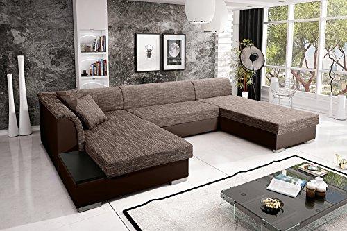 Sofa Couchgarnitur Couch Sofagarnitur KRETA 8 U Polstergarnitur Polsterecke Wohnlandschaft mit Schlaffunktion