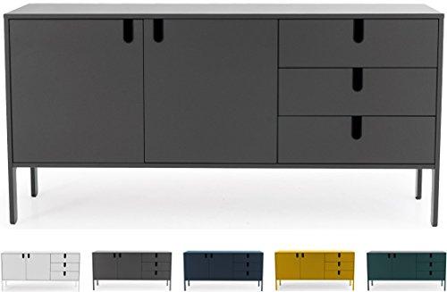 tenzo uno 8555 014 designer sideboard 2 t ren 3 schubladen lackiert mdf spanplatten matt. Black Bedroom Furniture Sets. Home Design Ideas
