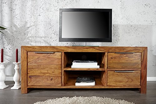 DuNord Design TV-Board Lowboard Arona Palisander Sheesham Massiv Holz Natur 135cm TV Möbel